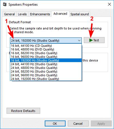 computer no sound drivers
