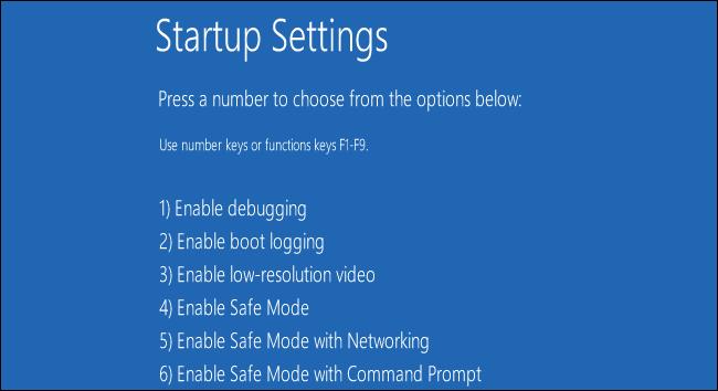 startup settings 1