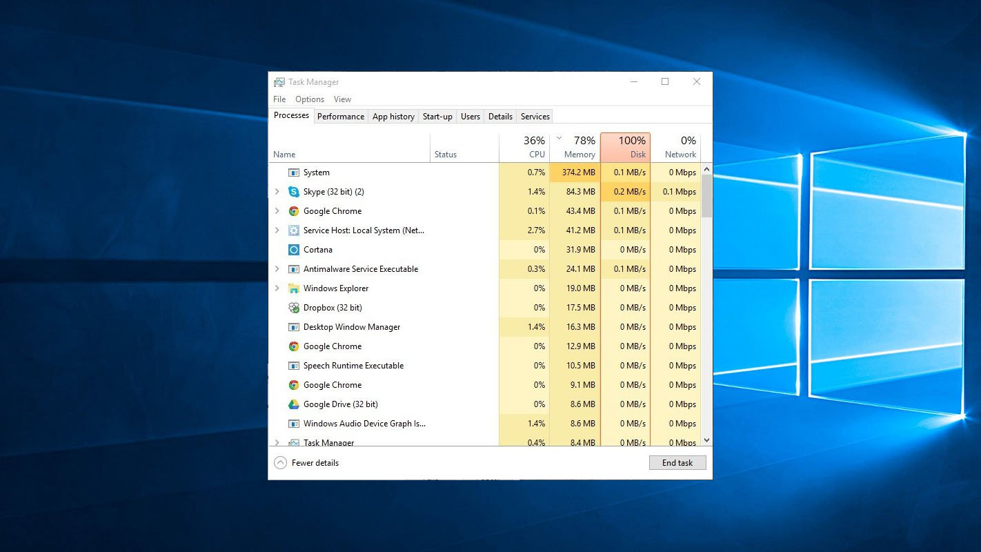 How to Rectify the 100% Disk Usage Error on a Windows 10 Computer