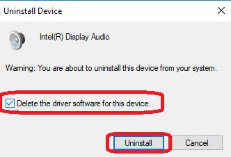 delete the driver