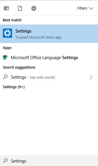 pc settings