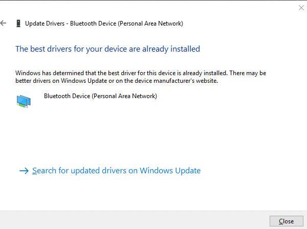 the best drivers for your device are already installed