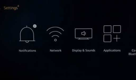 smart TV's settings menu