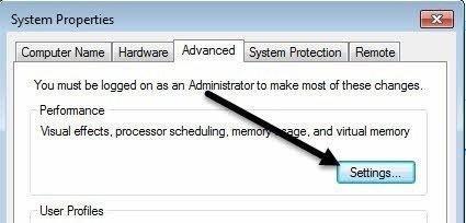 system properties settings
