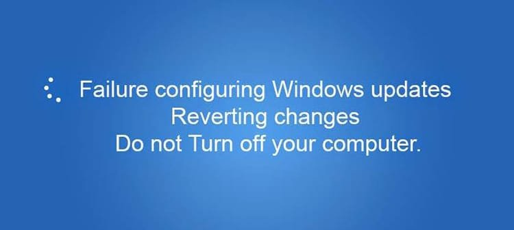 Solve the Failure Configuring Windows Updates Reverting Changes Error on Your Computer