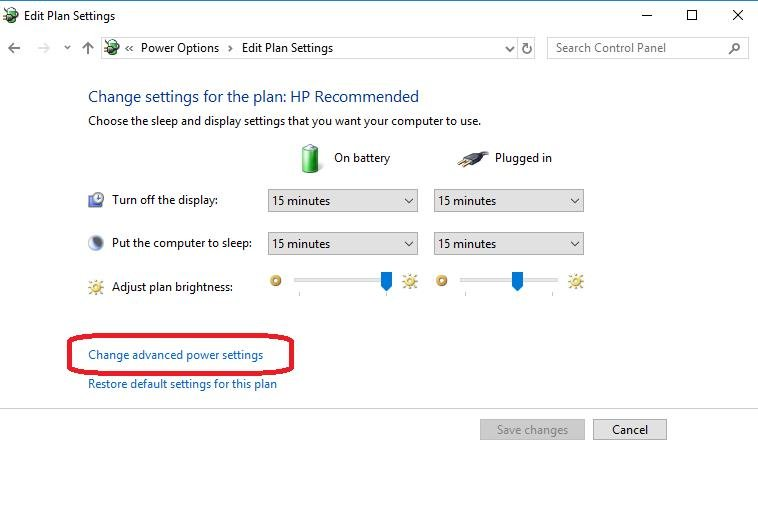 change advanced power settings on edit plan settings