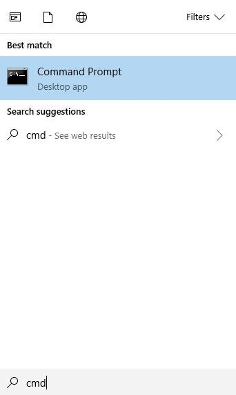 cmd on search box