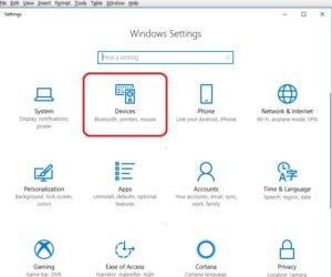 devices on Windows Settings