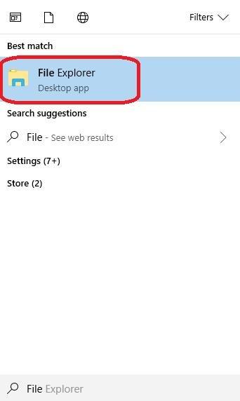 file explorer into start menu