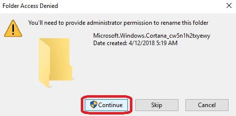 folder access denied message