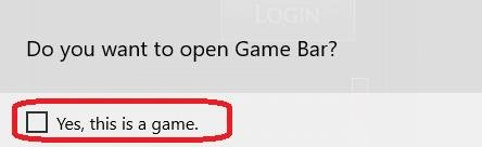 open game bar