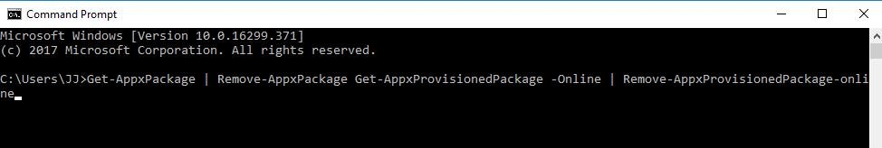 get appxpackage in cmd