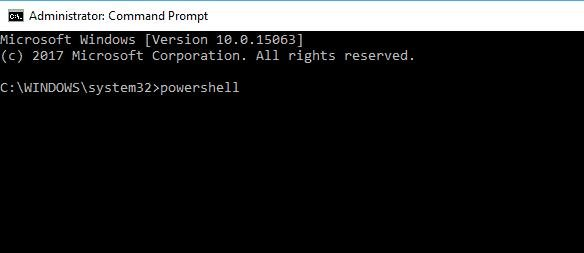 powershell in cmd
