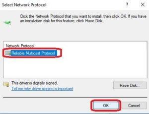 install network protocol