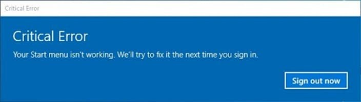 windows 10 critical error