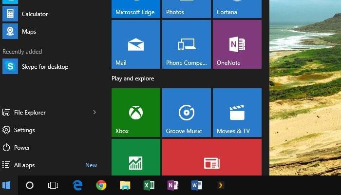 windows 10 taskbar