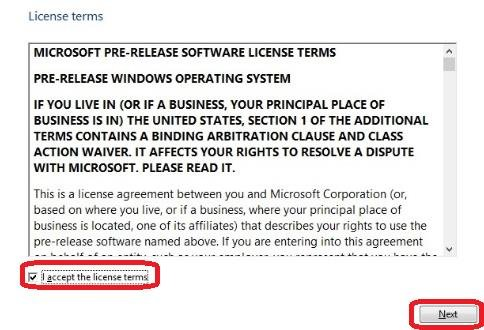 license terms of service