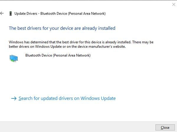 update drivers window