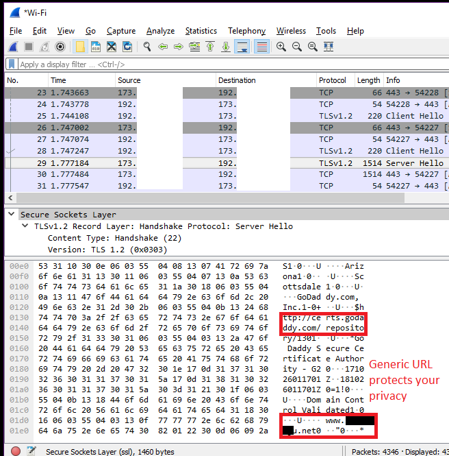 ExpressVPN Desktop Wireshark