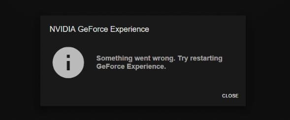 [Solved] Geforce Experience not Working Error Code 0x0003