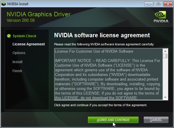 Nvidia driver software agreement