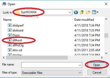 SysWOW64 dllhost
