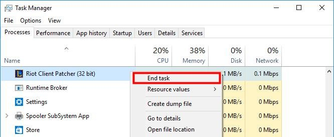 Task Manager - End Task Select Application and End Task