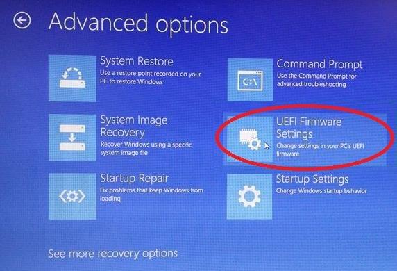 Navigate UEFI Firmware Settings