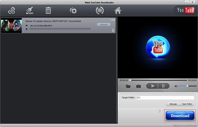 Navigate Winx Youtube Downloader