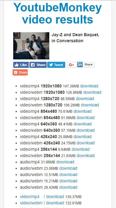 Youtube Monkey - Downloadable files list