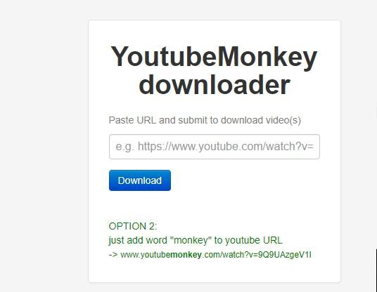 Youtube Monkey application preview