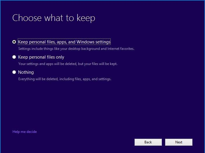 Windows 10 Choose personal files