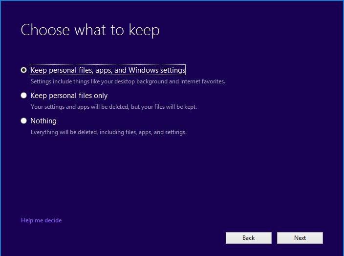 Windows 10 Choose personal files
