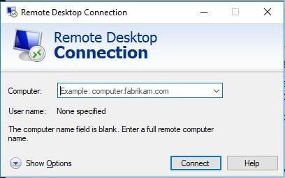 connect remote desktop