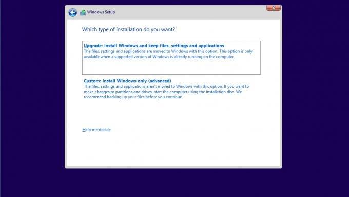 Windows 10 custom installation