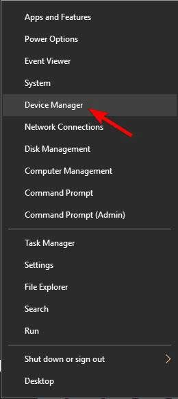 Navigate device manager