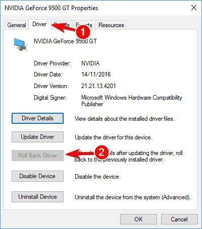 Select driver settings