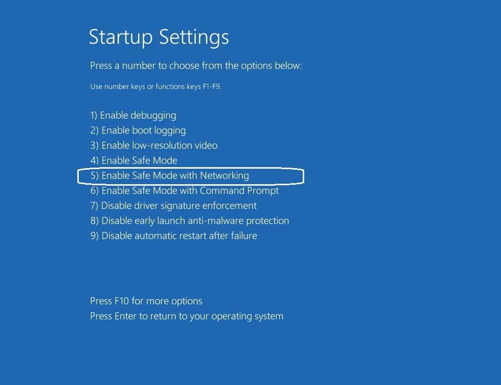 Navigate followup startup settings