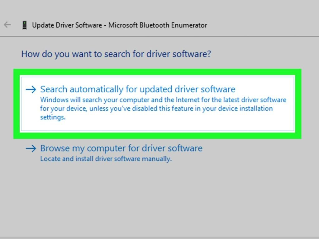 Windows 10 update software settings