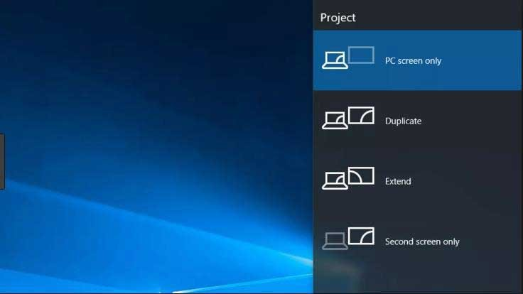 Navigate Windows 10 output settings