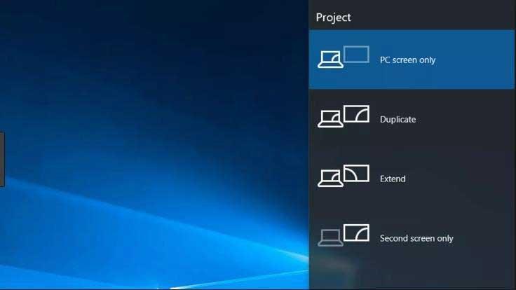Navigate Windows 10 output settings