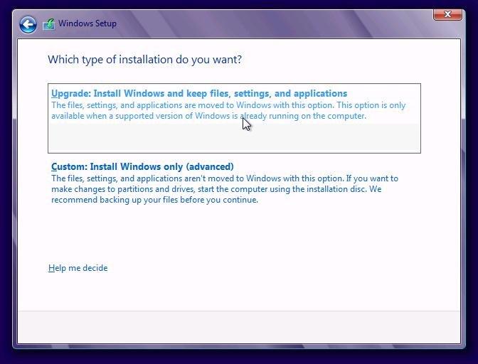 Windows 10 setup
