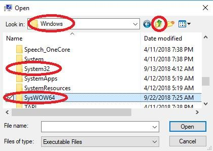 windows system folder