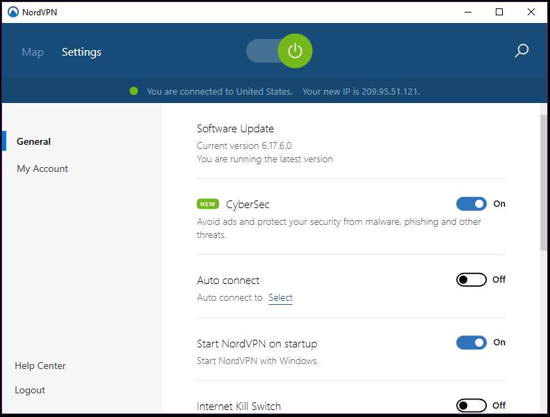 NordVPN Desktop Settings 1