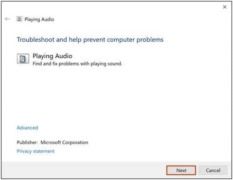 Troubleshoot Playing Audio