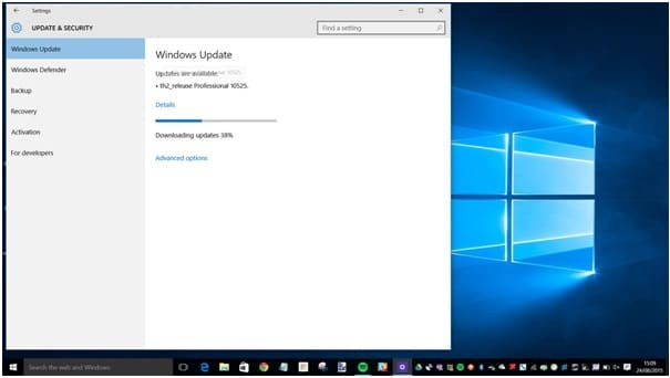 Windows Update check and download