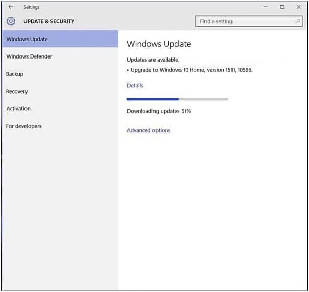 downloading Windows Update