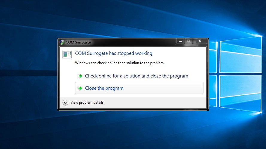 What to do if Com Surrogate has Stopped Working