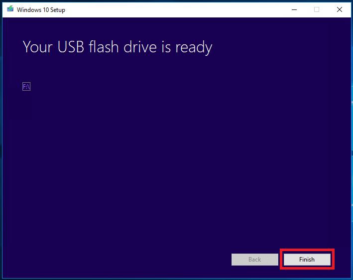 USB flash drive is finish
