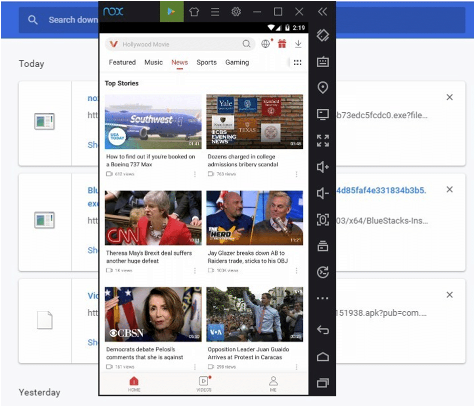 VidMate app installed
